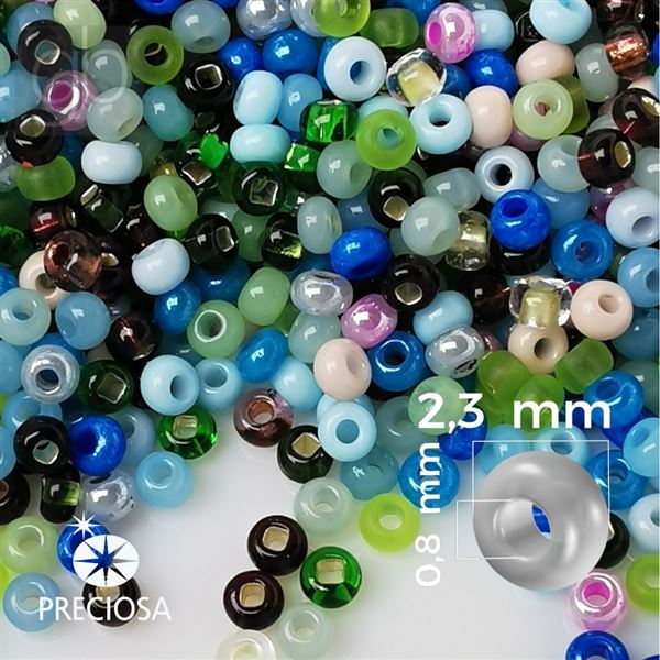 Preciosa rokajl MIX 10/0 2,3 mm PRM070 50 g